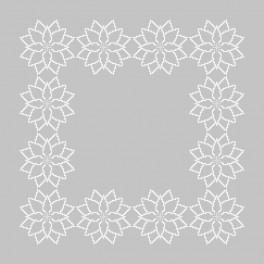 Stickpackung mit Stickgarn und Serviette - Stilisierter Weihnachtsstern II
