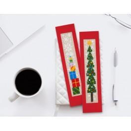Stickpackung - Weihnachtslesezeichen I