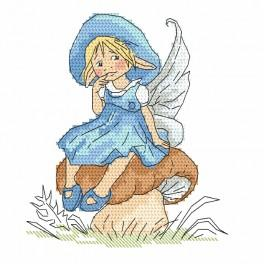 W 10092 stickvorlage ONLINE pdf - Kleine Elfe auf dem Pilz