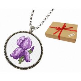 Geschenkset - Medaillon mit Iris