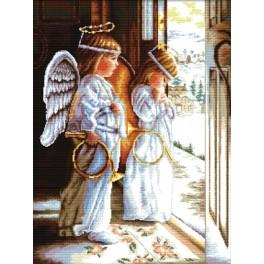 Set mit Stickgarn - Engelchen