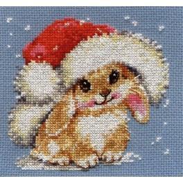 Stickpackung - Winterliches Kaninchen