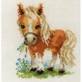 Stickpackung - Pferd mit weißer Mähne