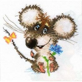 Stickpackung - Verliebtes Mäuschen