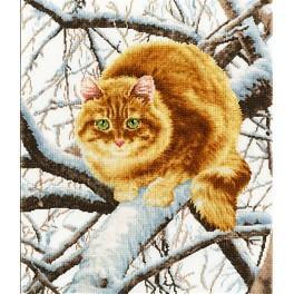Stickpackung - Fuchsrote Katze