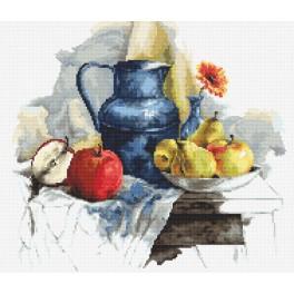 W 8719 Zahlmuster ONLINE - Stillleben mit Obst