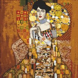 Zählmuster online - Porträt Adele Bloch-Bauer - G. Klimt