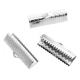 Klemmbleche für Armbänder, dunkelsilber 20mm