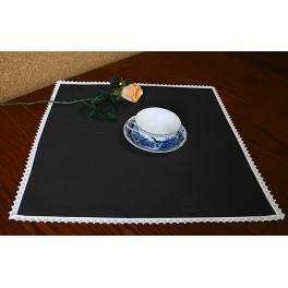 Serviette Aida 45x45 cm schwarz