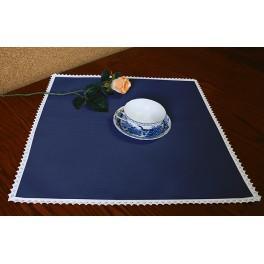 Serviette Aida 45x45 cm nachtblau