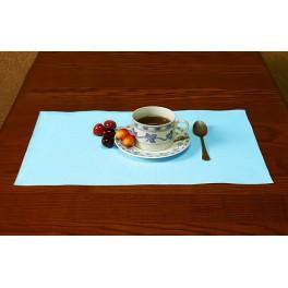 Serviette Aida 45x30 cm blau