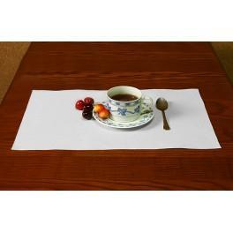 Serviette Aida 45x30 cm weiß