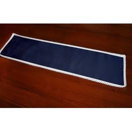 Serviette Aida 37x21 cm dunkelblau