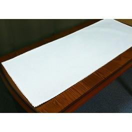 Tischläufer Aida mit Spitze 40x90 cm weiß