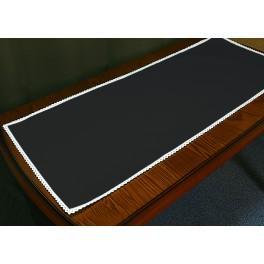 Tischläufer Aida mit Spitze 40x90 cm schwarz