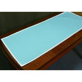 Tischläufer Aida mit Spitze 40x90 cm blau