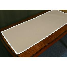 Tischläufer Aida mit Spitze 40x90 cm cappuccino