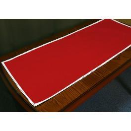 Tischläufer Aida mit Spitze 40x90 cm rot