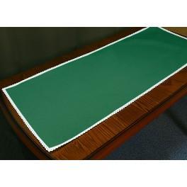 Tischläufer Aida mit Spitze 40x90 cm grün