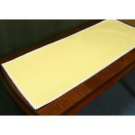 Tischläufer Aida mit Spitze 40x90 cm gelb