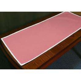 Tischläufer Aida mit Spitze 40x90 cm säuglingsrosa