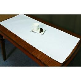 Tischläufer Aida 45x110 cm weiß