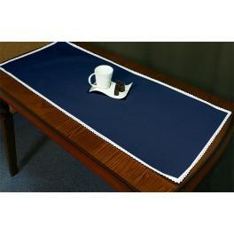 Tischläufer Aida 45x110 cm dunkelblau