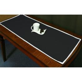 Tischläufer Aida 45x110 cm schwarz