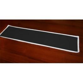 Tischläufer Aida 117x21 cm schwarz