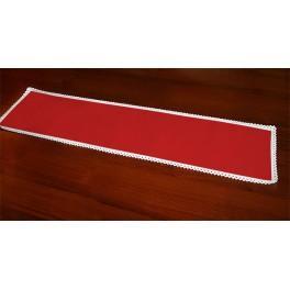 Tischläufer Aida 117x21 cm rot