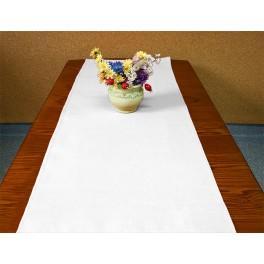 Tischläufer Aida 40x90 cm weiß