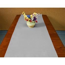 Tischläufer Aida 40x90 cm aschgrau