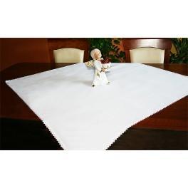 Tischdecke Aida 90x90 cm weiß