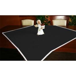 Tischdecke Aida 90x90 cm schwarz