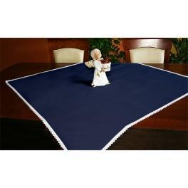 Tischdecke Aida 90x90 cm dunkelblau