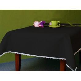 Tischdecke Aida 110x160 cm schwarz
