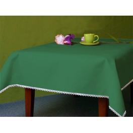 Tischdecke Aida 110x160 cm grün