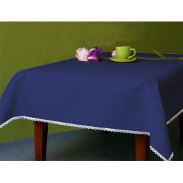 Tischdecke Aida 110x160 cm dunkelblau