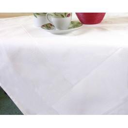 923-02 Tischdecke Pola 90x90 cm weiß