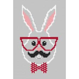 Zählmuster - Karte - Hipster rabbit boy