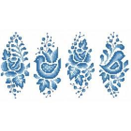 Zählmuster online - Osterei wie aus Porzellan