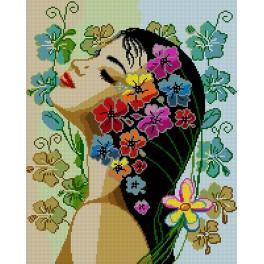 6104 Gobelin - Blumen im Haar