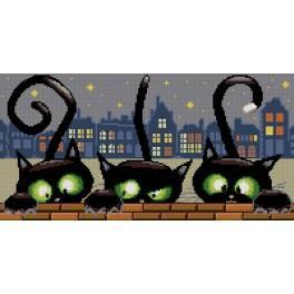 Zählmuster - Drei Katzen