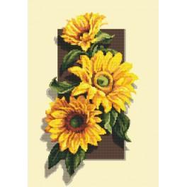 Zahlmuster online - Sonnenblumen 3D