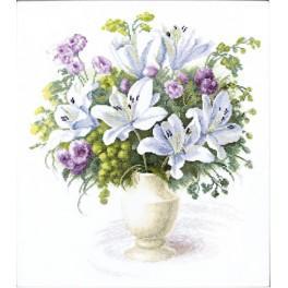 Stickpackung - Strauß mit weißen Lilien