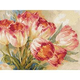 Zestaw z muliną - Tulipany