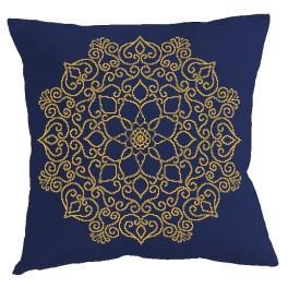 Stickpackung mit Kissenbezug - Kissen - Goldenes Mandala