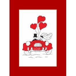 Stickpackung - Karte - Hochzeitsreise