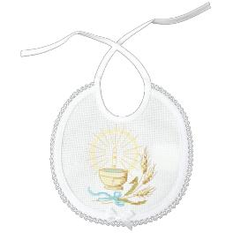 Stickpackung mit Stickgarn - Lätzchen - Taufe