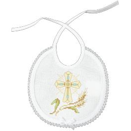 Stickpackung mit Stickgarn - Lätzchen - Sakrament der Taufe